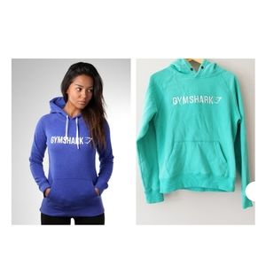 Gymshark Turquoise Hoodie with Embroidered Logo